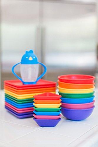 HomeFeedingSolid Feeding SuppliesLollaland Plastic Plates for Kids ... & Lollaland Plastic Plates for Kids (7-Count Rainbow Assorted): Made ...