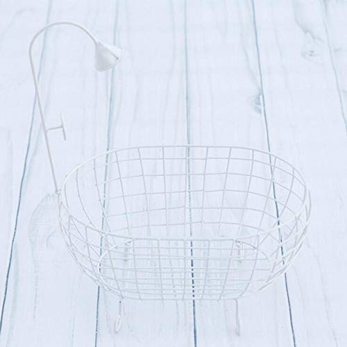 ZAMTAC Iron Studios Basket Shower Bathtub Prop Newborn Baby Photography Accessories Shooting Photo Posing Baby Photography Props - (Color: White) by ZAMTAC (Image #5)
