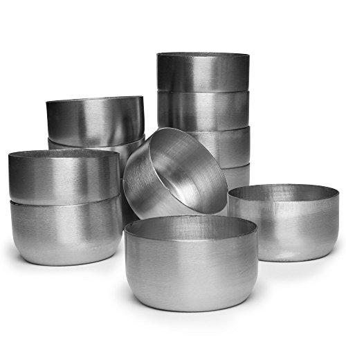 (Serenibee Candle Reusable Steel Tea Light Cups (12))
