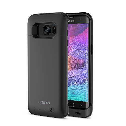Galaxy S7 Edge Battery Case, FOSTO Ultra Slim Portable Charger Galaxy S7 Edge Charging Case,(Not fit Galaxy S7)5000mAh External Rechargeable Protective Power Pack Juice Bank for Samsung Galaxy S7 Edge