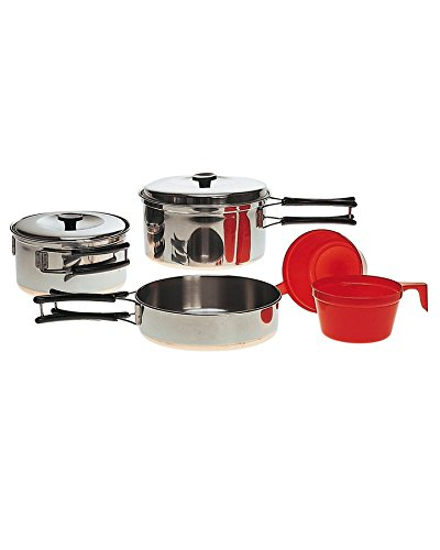 Military 2 Person Lightweight Portable CAMPING COOK SET - Stainless Steel Outdoor Cookwear Cooking Kit by Military