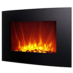 Homegear 1500W Wall Mounted 2-in-1 Electric Fireplace/Heater with Remote Control from Homegear