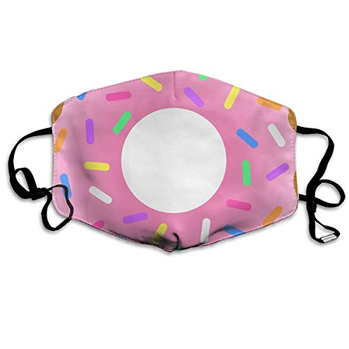 SyjTZmopre Pink Doughnut Mouth Mask Unisex Printed Fashion Face Anti-dust Masks]()