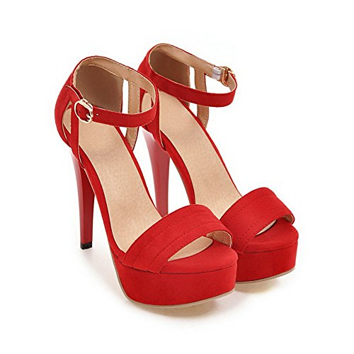 Rouge Red BalaMasa Ouvert 36 5 Femme Bout qSqtFTBI