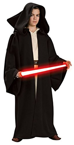 UHC Boy's Sith Robe Hooded Theme Outfit Fancy Dress Child Halloween Costume, Child M (8-10) ()