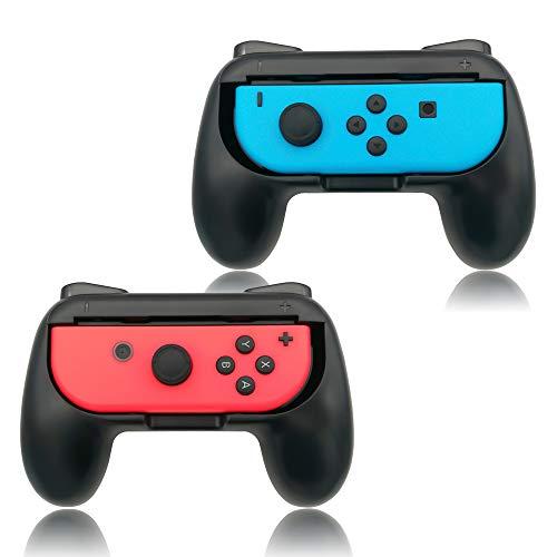 Grip Accessories - Grips for Nintendo Switch Joy-Con,FYOUNG Controllers for Nintendo Switch Joy Con - Black (2 Packs)