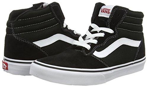VansY MILTON HI - Zapatillas Niños^Niñas negro - Schwarz ((Suede Canvas) black/white)