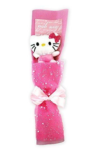 12 Hello Kitty Handmade Rose Flower Plush Doll Bouquet Graduation Birthday Valentine Gift by HXL.Online