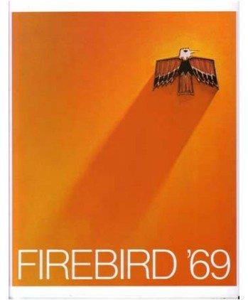 1969 PONTIAC FIREBIRD Sales Brochure Literature Book