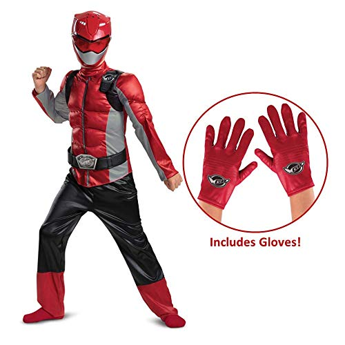 Power Rangers Beast Morphers Red Ranger Muscle Costume with Gloves -