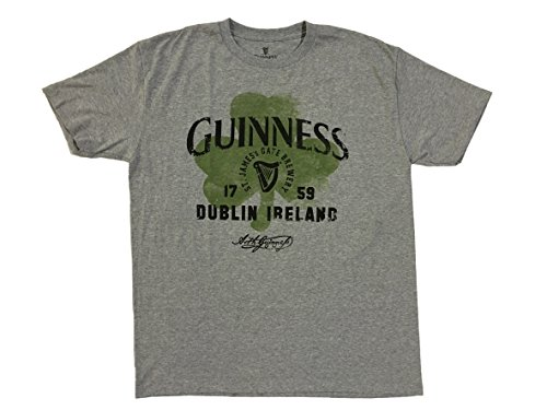 Guinness Clover - Guinness Dublin Ireland Clover Grey T-shirt (L)