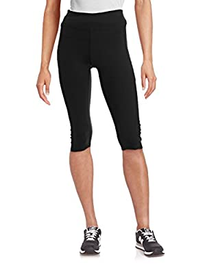 Calvin Klein Performance Women's High Waist Cropped Ruched Legging Pants
