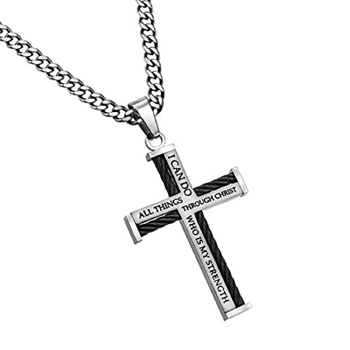 Front Cross Necklace - 6