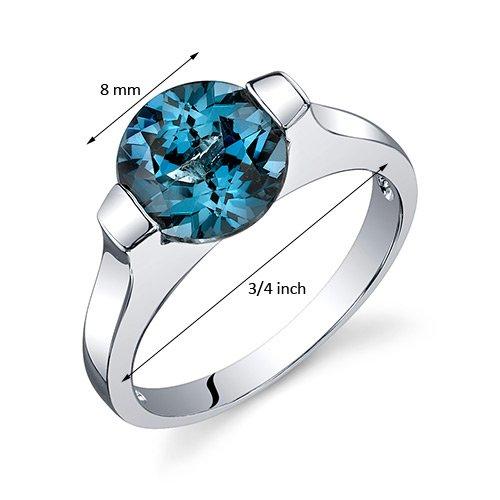 Caribbean Blue Favor Boxes : London blue topaz bezel ring sterling silver rhodium