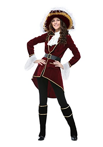 Red Captain Hook Jacket (Women's Captain Hook Costume X-Large)