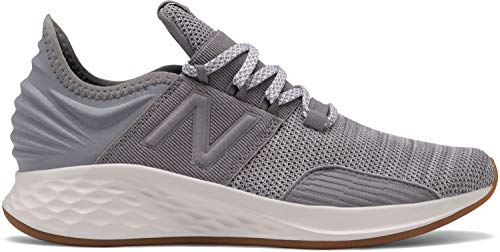 New Balance Boys' ROAV V1 Fresh Foam Running Shoe, Gunmetal/White, 5.5 M US Big Kid