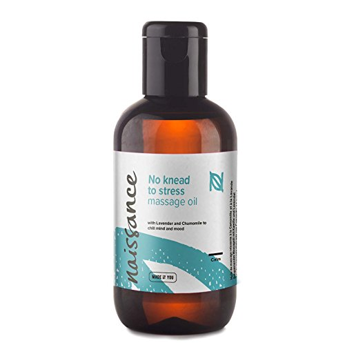 - Naissance 'No Knead to Stress' Therapeutic Relaxing Massage Oil 3.5 Fl oz.100% Natural Moisturizing Oil with Grapeseed, Lavender, Ylang Ylang, Orange, Cedarwood, Patchouli and Chamomile Oils