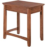 Ashley Furniture Signature Design - Cross Island Corner Table - Rectangular - Hand Finished - Medium Brown