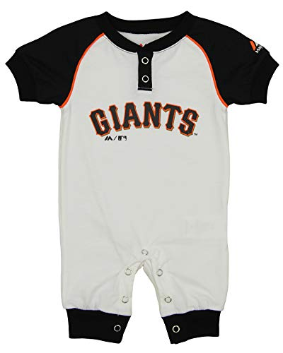 (Outerstuff MLB Newborn (3M-9M) Game Time Short Sleeve Coverall, San Francisco Giants 6-9 Months)