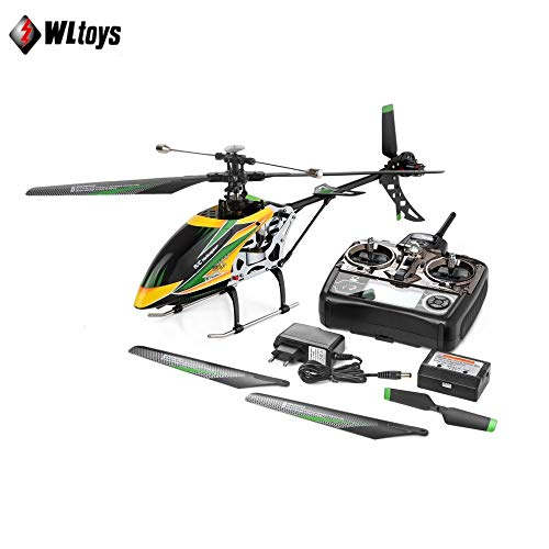 ETbotu 4CH Brushless RC Helicopter Single Blade High Efficiency Motor RC Helicopter for WLtoys V912 (with Remote Control)-U.S. regulations
