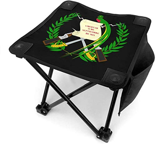 liang4268 Taburete de Camping Coat of Arms of Guatemala Folding Camping Stool Small Portable Camp Chair for Fishing Hiking Gardening Beach with Carry Bag.