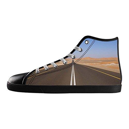 Dalliy sch?ne w¨¹stenlandschaft Mens Canvas shoes Schuhe Lace-up High-top Sneakers Segeltuchschuhe Leinwand-Schuh-Turnschuhe D