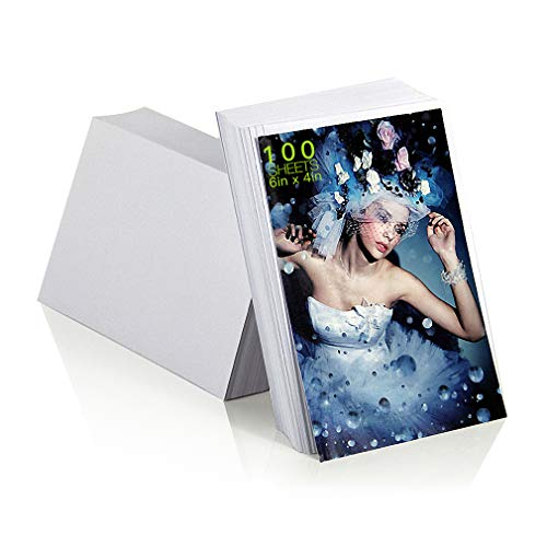 Edian Glossy Photo Paper 4x6 Inches High Gloss Photo Paper, 100 Sheets, 200 gsm (4''x6''-100 - 100 Gloss 6 High Sheet
