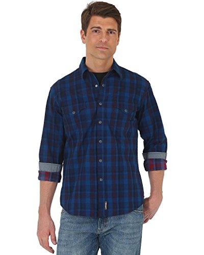 Wrangler Men's Shirt (Red/Blue) - 9