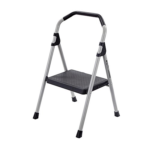 Gorilla Ladders 1-Step Lightweight Steel Step Stool Ladder with 225 lb. Load Capacity Type II Duty Rating, Durable, Sturdy