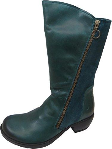 Fly London Women's Malt728fly Cowboy Boots Green SF3X2