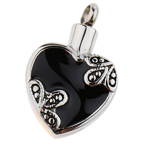Stainless Steel Ashes Keepsake Urn Pendant Heart Shaped Memorial Pet Jewelry Necklace Jewelry Crafting Key Chain Bracelet Pendants Accessories Best