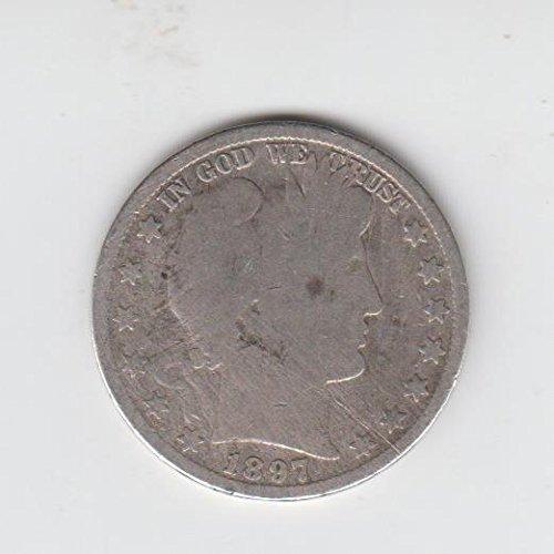 1897 Barber Half Dollar Silver Coin (Circulated) Half Dollar About Good