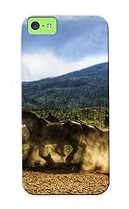 [c626ae53339] - New Running Wild Horses Protective Iphone 5c Classic Hardshell Case