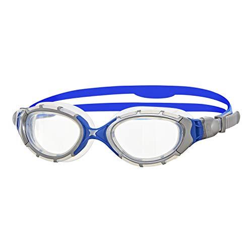 - Zoggs Men's Predator Flex 2.0 Swimming Goggles, Silver/blue/clear, One Size