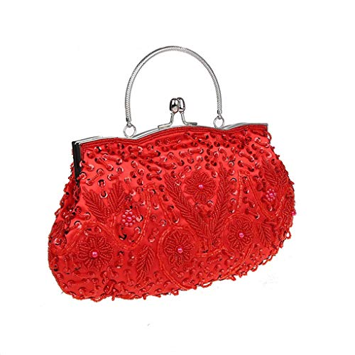 Clutch Party Evening Floral Women's For Bridal Bags Wedding Handbag E Elegant Lace Purse AqZnnIT
