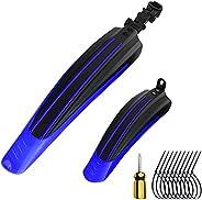 """QYLPNB Bike Adjustable Fender Set, Mountain Bike Mud Tiles, Front/Rear Mud Guards Fit for 20""""/22""""/24"""