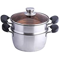 Stainless Steel Soup Steamer Large Capacity Anti-scalding Multi-Stove Suitable for Soup Steamer pots