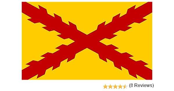 Durabol Bandera De Tercios Morados Viejos Cruz de Borgoña 150 x 90 cm Satén Flag: Amazon.es: Jardín