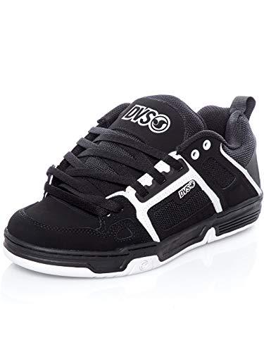 DVS Men's Comanche Skate Shoe, Black/White Nubuck, 9 Medium US