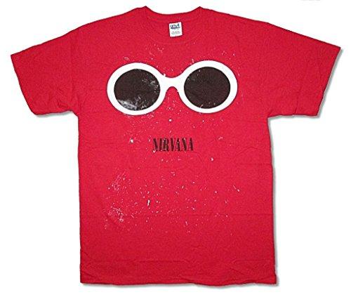Nirvana Sunglasses Splatter Image Red T Shirt Merch Kurt Cobain - Cobain Brand Sunglasses Kurt