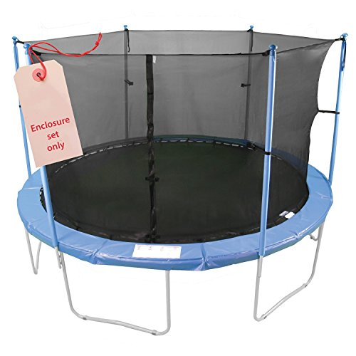 Upper-Bounce-6-Pole-Trampoline-Enclosure-Set-to-fit-16-FT-Trampoline-Frames-with-set-of-3-or-6-W-Shaped-Legs-Trampoline-Not-Included
