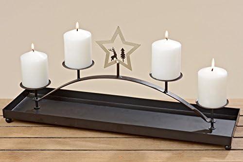 Candelabri Fai Da Te.Candeliere Candelabro Metallo Advent Portacandele Decorazione Tavolo