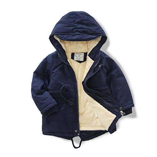 Always Pretty Boys and Girl Fashion Hoodie Jacket Coat Kid Winter Clothes Navy Blue 6T-130cm