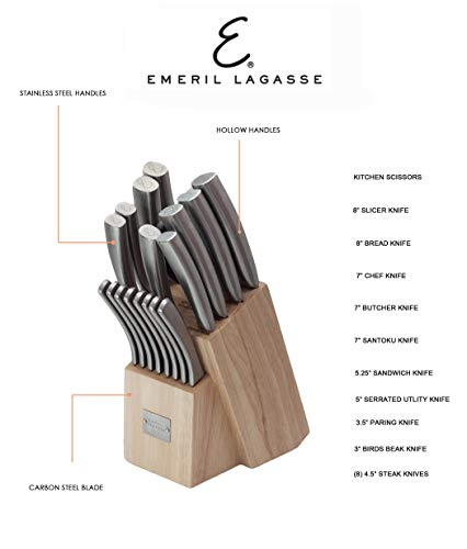 Emeril 19 Piece Hollow Handle & Forged Knife Block Set E9021GB by Emeril (Image #2)