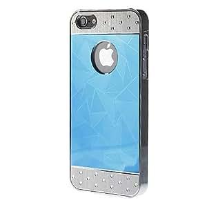 Sección Tri Triángulo Brillante Casos galvanoplastia duros para iPhone 5/5S , Oro