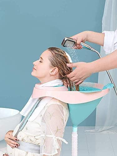 JIAIZL Faltbares Haarshampoo Und Spültablett - Einfach Zu Shampoonieren Für Behinderte Schwangere Ältere Und Kinder Für Bequemes Friseurhandwerk Waschen Im Rollstuhl Oder Stuhl,Child