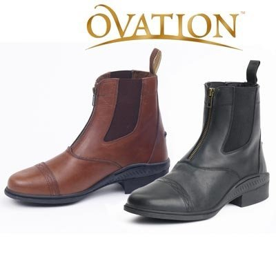 Ovation Women's Aeros Elite Zip Paddock Boot Black 39 US