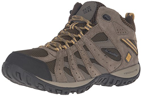 Columbia Men's Redmond Mid Waterproof Trail Shoe, Cordovan/Dark, 10 D US - Trail Hiker Boots