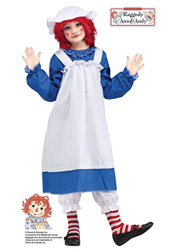 Fun World Big Girl's Raggedy Ann Classic Costume Childrens Costume, Multi, Large -