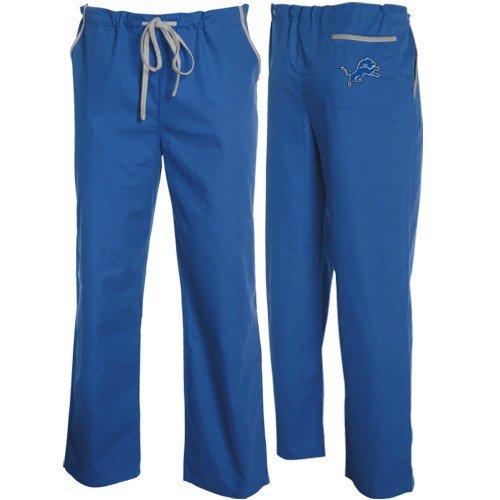 Detroit Lions Light Blue Scrub Pants (Medium) by Football Fanatics
